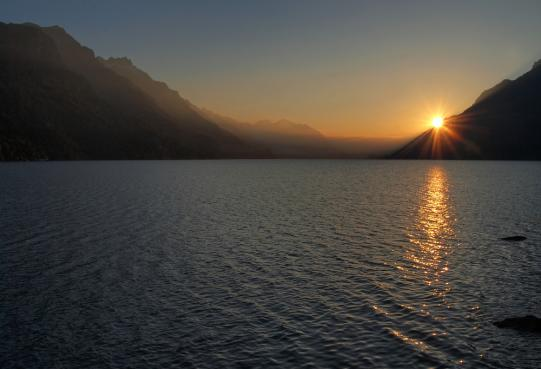 Sonnenuntergang am Brienzersee