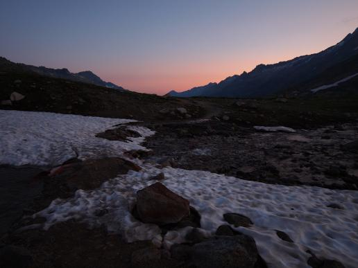 Morgenrot am Grimselpass