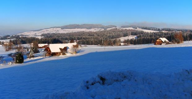 Wintermorgen in Schwarzenegg BE